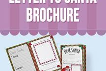 Letters To Santa / This adorable bi-fold letter brochure aims to send a special message to Santa and help children to differentiate between needs and wants.