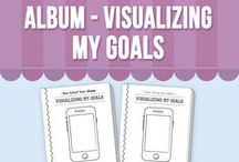 Back to School Activity - Visualizing My Goals / Back to school is a fantastic time to know your students' goals and expectations. This album helps your kids or students to set their goals and visualize them through a drawing and writing exercise.