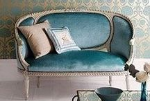 Settee Pretty / What's not to love about the settee? A mini sofa, or an extra large chair, it's the perfect piece for an entryway, at the foot of your bed or in a small space that still needs somewhere soft to sit!
