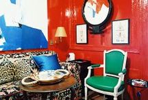Red / There's nothing sinister about these red rooms. Punch it up a notch with this firey hue! / by Chairish