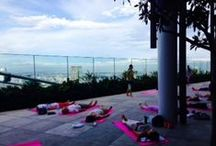 Andaz Tokyo Rooftop Yoga / 52-floor rooftop Yoga class provided by AO Spa & Club and Reebok Japan.