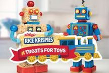 Treats for Toys / Show your little ones what it means to give this holiday season. Share a photo of your Rice Krispies creation using #treatsfortoys and we'll donate toys to children in need  with the help of the Salvation Army. Visit RiceKrispies.ca for full details.