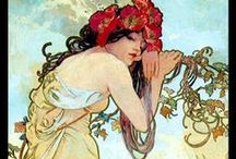 Alphonse Mucha / Alfons Maria Mucha (24 July 1860 – 14 July 1939), often known in English and French as Alphonse Mucha, was a Czech Art Nouveau painter and decorative artist.