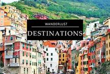 WANDERLUST / Some of my travel inspiration from Destinations around the World!  Some inspiration and a mental vacation when the doldrums of gloomy weather get you down. Sail away with me on this wanderlust board to a sunny beach, deserted island or glam resort getaway. Or, get inspired for: Sring Break, Honeymoon, Girls Trips, Babymoon