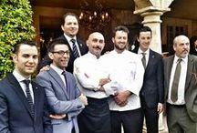 "Relais & Châteaux Gourmet Festival 2016 / Chef Andrea Mattei of 'Meo Modo' and Anthony Genovese of 'Il Pagliaccio' joined together for a special ""Star bright, star night"" four-handed dinner at Borgo Santo Pietro as part of the 2016 Gourmet Festival. #gourmet #food #MichelinStar #wine #MoetChandon #ItalianFood"