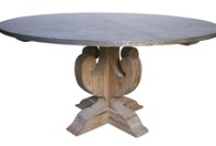 Zinc and Wood Furniture / Unique dining tables and furnishings made from zinc and reclaimed woods
