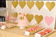 Birthday Party: Pink & Gold