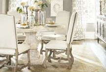 dining room / Relaxed, polished, glamorous, dramatic -- all of our most inspired dining room spaces are featured on this board. Find ideas for banquettes, breakfast areas, lighting, and more!
