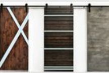 Custom Interior Sliding Barn Doors / This collection of barn doors are handcrafted right here in the USA! All doors are made from high quality real wood. Customize your own personal door(s) from a variety of styles, finishes, and sizes to find just the right door for your home or business.   THESE CUSTOM INTERIOR BARN DOORS ADD CHIC RUSTIC STYLE TO ANY SPACE EITHER AS ROOM DIVIDERS, WINDOW AND DOOR COVERINGS, CLOSETS, KITCHEN PANTRIES, OR EVEN AS DECORATIVE WALL DECOR. www.TaramundiFurniture.com