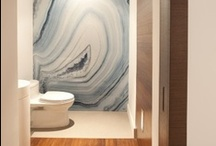 """Inspired Bathroom Ideas / The bathroom should be a place you enjoy going to.  A good design is easy to keep clean, a bad design collects dust in crevices and has difficult to get to areas to clean.  Always be wise in your design ideas while keeping """"ease of cleaning"""" at top priority."""