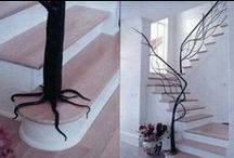 Cleaver Stairway Ideas / While stairs might not be the first think that pops into your mind when you think of home decor, if you do decide to put a creative spin on them, they'll most certainly become the centre of attention!