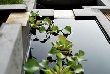 Vesiaiheet - water elements at garden