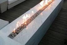 Nuotiopaikat - fireplace at garden
