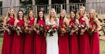 Red Wedding Inspiration / Red Wedding Inspiration | Red Wedding Details | Red Dresses | Red Bridesmaid Dresses | Red Wedding Ideas | Red Wedding Dresses | Red Wedding Flowers | Red Wedding Cake