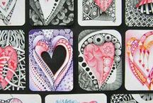 Zentangle / The Zentangle Method is an easy to learn, fun and relaxing way to create beautiful images by drawing structured patterns.