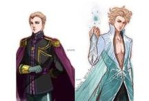*~Anime Frozen~* / Characters from Frozen (and Jack Frost) in anime (ish) style!