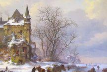 Frederik Marinus Kruseman - Wintertaferelen / Frederik Marinus Kruseman (Haarlem, 12 juli 1816 – Sint-Gillis, 25 mei 1882) was een Nederlandse kunstschilder.
