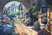 Howard Behrens - Art / Howard Chesner Behrens (August 20, 1933 - April 14, 2014) was American popular artist whose original works of art are sold in fine art galleries, at auction on cruise ships, and at Costco. Behrens' limited and open editions are sold internationally. Behrens was also one of the top-selling artists on Princess Cruises.