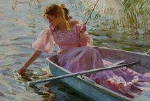 "Alexander Averin - Art / Alexander Averin was born in 1952 in Noginsk, near Moscow, he learned his technique from the painter Dmitri Yorontnov at the School of Fine Arts ""Souvenir de I'An 1905"" in Moscow. He is a member of the Moscow Painters Association, with whom he has exhibited on many occasions. For many years he specialised in portraits. His style is purely realistic, with a strong influence of the late 19th Century Russian painters, usually depicting domestic scenes in a soft twilight."