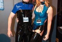 Latex for men / Seattle Erotic Art Festival attendees in latex outfits