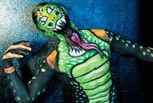 Bodypaint / Some of the creative face and bodypainting on Seattle Erotic Art Festival attendees