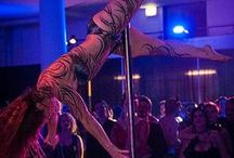 Pole dancers / Some of the amazingly talented pole dancers at the Seattle Erotic Art Festival