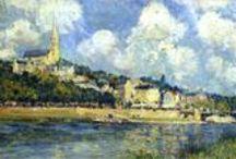 Alfred Sisley - Art / Alfred Sisley (né le 30 octobre 1839 à Paris et mort le 29 janvier 1899 à Moret-sur-Loing) est un peintre anglais, français d'adoption, du mouvement impressionniste.
