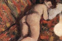 Edgar Degas - Art / Hilaire Germain Edgar de Gas, dit Edgar Degas, né le 19 juillet 1834 à Paris et mort le 27 septembre 1917 à Paris, est un artiste peintre, graveur, sculpteur et photographe. Si le peintre est né sous le patronyme de De Gas, il n'a en réalité fait que reprendre le nom d'origine de sa famille en se faisant appeler Degas.