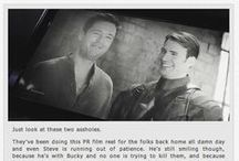 Steeb and Binky / Steve Rogers and Bucky Barnes, mostly MCU headcanons / by Cate Giltner