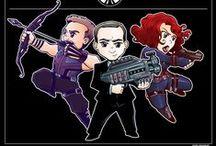 Strike Team Delta / Clint, Phil, and Natasha.  Bamfs.  Mostly MCU, mostly headcanony / by Cate Giltner