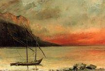 Gustave Courbet - Art / Gustave Courbet, né le 10 juin 1819 à Ornans, et mort le 31 décembre 1877 à La Tour-de-Peilz en Suisse, est un peintre français, chef de file du courant réaliste. Il est principalement connu pour le réalisme cru de ses œuvres. Ami de Proudhon et proche des anarchistes, il fut l'un des élus de la Commune de Paris de 1871. Accusé d'avoir fait renverser la colonne Vendôme, il est condamné à la faire relever à ses propres frais ; réfugié en Suisse.