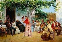 José García Ramos - Arte / José García y Ramos es un pintor e ilustrador español, nacido en Sevilla en 1852 y fallecido en la misma ciudad en el año 1912.