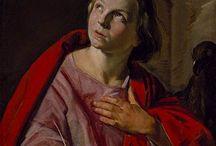Frans Hals - Art / De in 1583 in Antwerpen geboren schilder Frans Hals verhuisde op jonge leeftijd naar Haarlem. Na eerst zelf leerling te zijn geweest van Karel van Mande werd hij lid van het Sint-Lucasgilde. Frans Hals schilderde met name schuttersstukken, portreten en groepsportretten.  Frans Hals stierf in 1666 en werd begraven onder het koor van de St. Bavo-kerk aan de Grote Markt in Haarlem.
