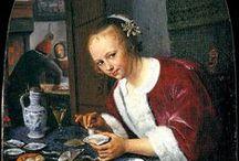 Jan Steen - Art / Jan Havickszoon Steen (Leiden, 1625 of 1626 – aldaar, begraven 23 februari 1679) was een Hollands kunstschilder uit de 17e eeuw, de tijd van de Noord-Nederlandse barokke schilderkunst. Humor, gewone mensen en uitbundig kleurgebruik kenmerken zijn werk.