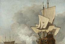 Willem van de Velde de Jonge - Art / Willem van de Velde, de Jonge (Leiden, 1633 – Londen, 6 april 1707) was een Nederlands schilder die net als zijn vader, Willem van de Velde de Oude was gespecialiseerd in marines. Hij was de broer van Adriaen van de Velde, een landschapschilder.