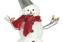 Winterdekoration: Schnee & Eis / Winterdekoration mit Eis, Schnee und Wintertieren