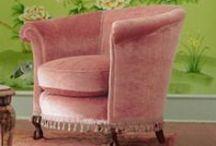 Poltronas / Cadeiras e poltronas vintage, delicadas, florais.