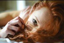 Irina has red hair