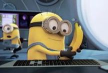 Despicable Me y  Minions /  Los minions son pequeñas criaturas que les encantan las frutas, pero sus favoritas son las bananas. Los minions tienen tipos diferentes de pelo, ojos y estatura, por lo que cada uno es muy diferente. Los minions tienen forma de píldora de color amarillo que han existido desde el principio del tiempo, como evolución de organismos unicelulares que tienen un solo propósito: servir al villano más despreciable de la historia.