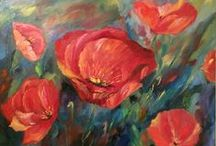 Oil Paintings / Impressionism oil paintings floral poppies landscape tulips