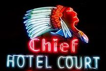 Motels, diners, and drive-ins