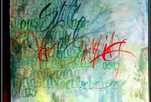 My own hand-written letters / Some of my own work: hand-written letters and art