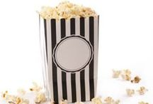 Popcorn Recipes / Whether it's an Oscar-viewing party, family movie night or just a healthy snack, it's always fun to experiment with creative popcorn recipes.  Try serving them in cute popcorn boxes by Simply Baked! http://www.simplybaked.us/product/popcorn-boxes/
