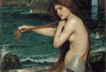 """Mermaids / """"I must be a mermaid...no fear of depth and an aversion for shallow living...""""     ~ Anais Nin"""