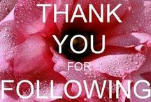 A THANK YOU and Welcome / In Gratitude...