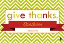 CSL - Thanksgiving Soda Gallery / Thanksgiving is a time to reflect on the things we're grateful for and spend time with friends and family.  This Thanksgiving give your party the extra touch with Thanksgiving themed soda bottles.  You can create your own or have us design them for you.  Either way it will certainly be a party to remember.