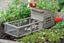 høns og have