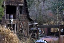 """Barn Dance / """"Barn's burnt down.  Now I can see the Moon.""""      ~ Chinese Proverb"""
