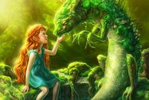"""Dragons, Witches and Whimsy / """"The ultimate challenge of a teacher lies not in the slaying of dragons, but rather in exposing them as beasts no longer to be feared.""""        ~ Alan Burton, 'A Wayward Wizard's Wistful Words'"""