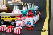 Pop-A-Wheelie Birthday Party / Our friend Britni from www.playpartypin.com threw a poppin' birthday party for her son with a cars, trucks, and anything that moves theme. We were happy to provide the drinks for her son's big day. Happy Birthday Kellan!